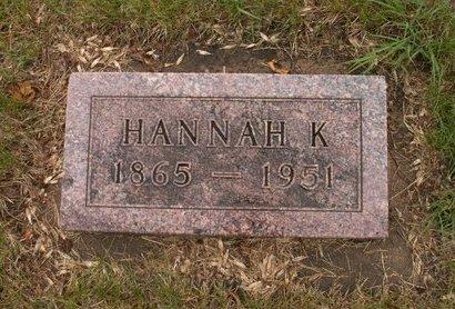 ALSAKER, HANNAH C - Roberts County, South Dakota   HANNAH C ALSAKER - South Dakota Gravestone Photos