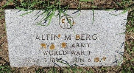 BERG, ALFIN M - Roberts County, South Dakota   ALFIN M BERG - South Dakota Gravestone Photos