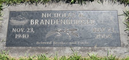 BRANDENBURGER, NICHOLAS M. - Roberts County, South Dakota | NICHOLAS M. BRANDENBURGER - South Dakota Gravestone Photos