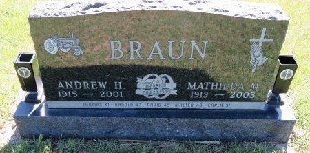 BRAUN, ANDREW H. - Roberts County, South Dakota | ANDREW H. BRAUN - South Dakota Gravestone Photos