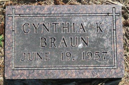 BRAUN, CYNTHIA K. - Roberts County, South Dakota | CYNTHIA K. BRAUN - South Dakota Gravestone Photos