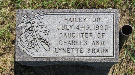 BRAUN, HAILEY JO - Roberts County, South Dakota   HAILEY JO BRAUN - South Dakota Gravestone Photos