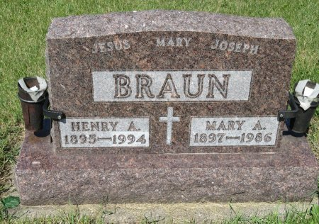 BRAUN, HENRY A. - Roberts County, South Dakota | HENRY A. BRAUN - South Dakota Gravestone Photos