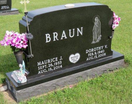 BRAUN, MAURICE J. - Roberts County, South Dakota   MAURICE J. BRAUN - South Dakota Gravestone Photos