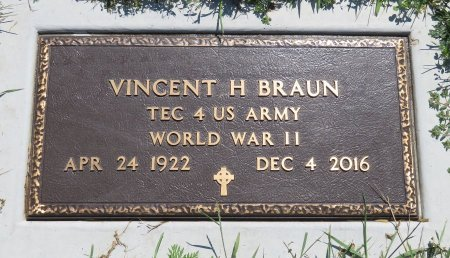 BRAUN, VINCENT H - Roberts County, South Dakota | VINCENT H BRAUN - South Dakota Gravestone Photos
