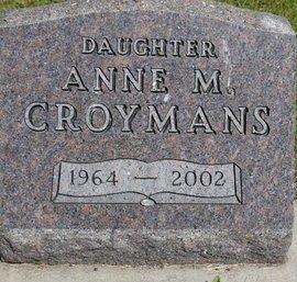 CROYMANS, ANNE M. - Roberts County, South Dakota | ANNE M. CROYMANS - South Dakota Gravestone Photos