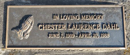 DAHL, CHESTER LAURENCE - Roberts County, South Dakota   CHESTER LAURENCE DAHL - South Dakota Gravestone Photos