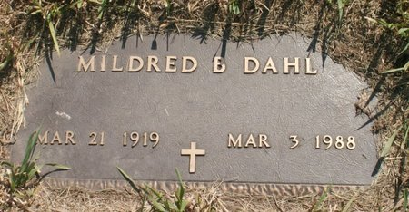 DAHL, MILDRED B - Roberts County, South Dakota | MILDRED B DAHL - South Dakota Gravestone Photos