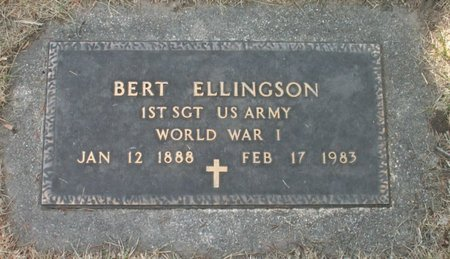 ELLINGSON, BERT - Roberts County, South Dakota | BERT ELLINGSON - South Dakota Gravestone Photos