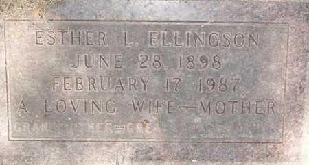 ELLINGSON, ESTHER L. - Roberts County, South Dakota   ESTHER L. ELLINGSON - South Dakota Gravestone Photos