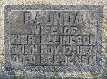 ELLINGSON, RAUNDA - Roberts County, South Dakota | RAUNDA ELLINGSON - South Dakota Gravestone Photos