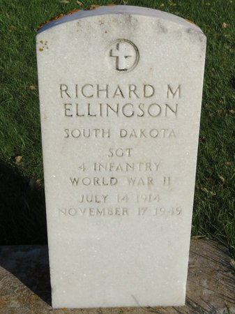 ELLINGSON, RICHARD M - Roberts County, South Dakota | RICHARD M ELLINGSON - South Dakota Gravestone Photos