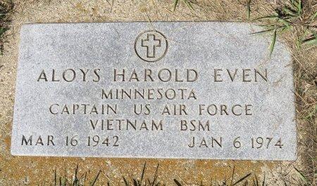 EVEN, ALOYS HAROLD - Roberts County, South Dakota | ALOYS HAROLD EVEN - South Dakota Gravestone Photos