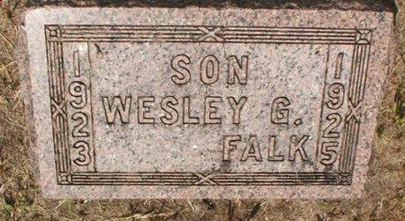 FALK, WESLEY G. - Roberts County, South Dakota | WESLEY G. FALK - South Dakota Gravestone Photos