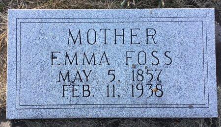 FOSS, EMMA INGEBORG - Roberts County, South Dakota | EMMA INGEBORG FOSS - South Dakota Gravestone Photos