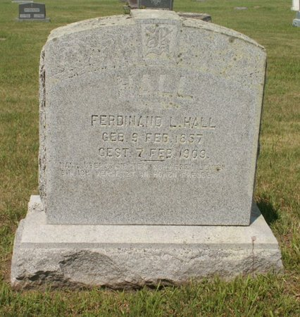 HALL, FERDINAND L - Roberts County, South Dakota | FERDINAND L HALL - South Dakota Gravestone Photos