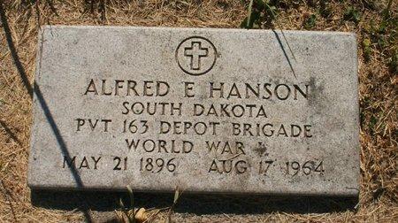 HANSON, ALFRED E - Roberts County, South Dakota | ALFRED E HANSON - South Dakota Gravestone Photos