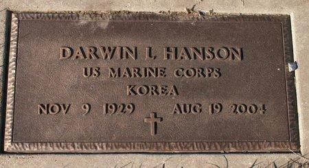 HANSON, DARWIN L. - Roberts County, South Dakota   DARWIN L. HANSON - South Dakota Gravestone Photos