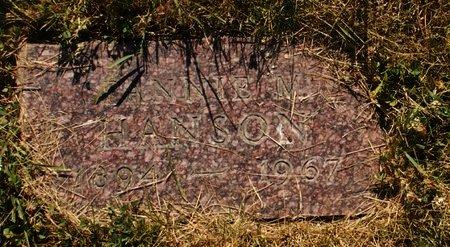 HANSON, FANNIE M. - Roberts County, South Dakota | FANNIE M. HANSON - South Dakota Gravestone Photos
