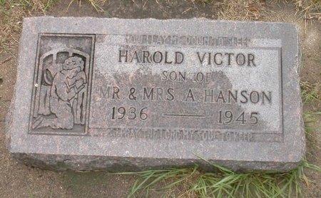 HANSON, HAROLD VICTOR - Roberts County, South Dakota | HAROLD VICTOR HANSON - South Dakota Gravestone Photos