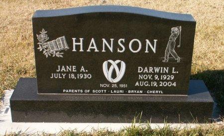HANSON, JANE A. - Roberts County, South Dakota | JANE A. HANSON - South Dakota Gravestone Photos