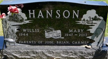 HANSON, MARY ELLEN - Roberts County, South Dakota | MARY ELLEN HANSON - South Dakota Gravestone Photos