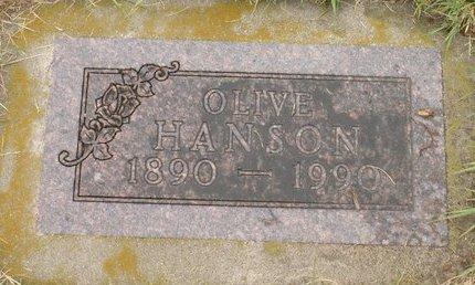 HANSON, OLIVE - Roberts County, South Dakota | OLIVE HANSON - South Dakota Gravestone Photos