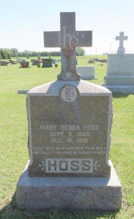 HOSS, MARY  - Roberts County, South Dakota | MARY  HOSS - South Dakota Gravestone Photos