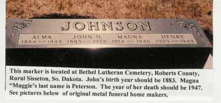 """PETERSON, MAGNA """"MAGGIE"""" - Roberts County, South Dakota 
