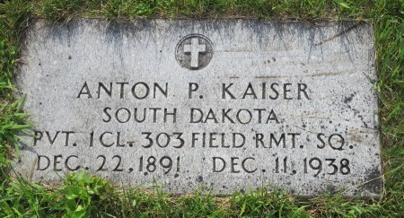 KAISER, ANTON P. - Roberts County, South Dakota | ANTON P. KAISER - South Dakota Gravestone Photos