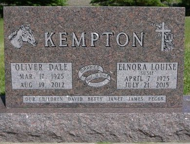 "KEMPTON, ELNORA LOUISE ""SUSIE"" - Roberts County, South Dakota 