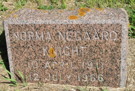 NEGAARD KNIGHT, NORMA - Roberts County, South Dakota | NORMA NEGAARD KNIGHT - South Dakota Gravestone Photos