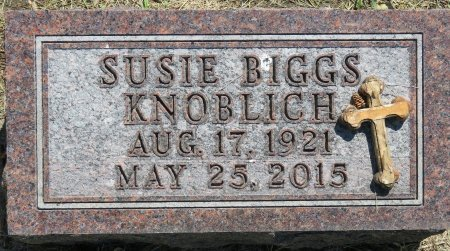KNOBLICH, SUSIE BIGGS - Roberts County, South Dakota | SUSIE BIGGS KNOBLICH - South Dakota Gravestone Photos