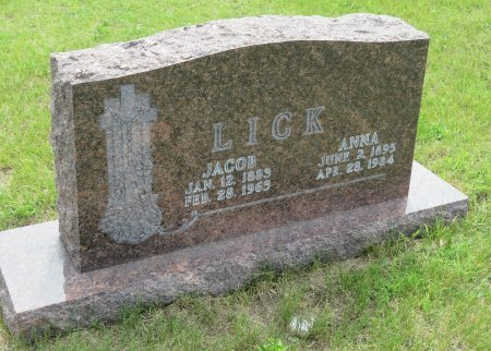 LICK, JACOB - Roberts County, South Dakota | JACOB LICK - South Dakota Gravestone Photos