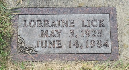 LICK, LORRAINE - Roberts County, South Dakota | LORRAINE LICK - South Dakota Gravestone Photos