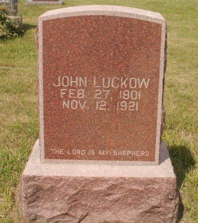 LUCKOW, JOHN - Roberts County, South Dakota | JOHN LUCKOW - South Dakota Gravestone Photos