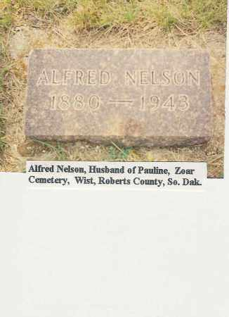 NELSON, ALFRED - Roberts County, South Dakota   ALFRED NELSON - South Dakota Gravestone Photos