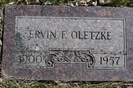 OLETZKE, ERVIN F. - Roberts County, South Dakota   ERVIN F. OLETZKE - South Dakota Gravestone Photos