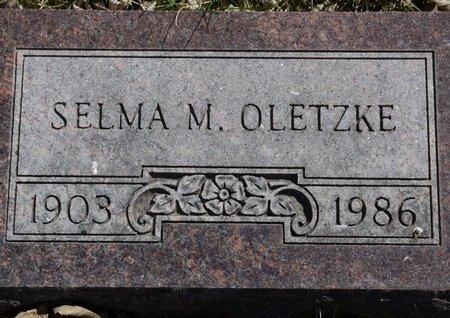 OLETZKE, SELMA M. - Roberts County, South Dakota   SELMA M. OLETZKE - South Dakota Gravestone Photos