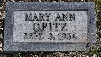 OPITZ, MARY ANN - Roberts County, South Dakota | MARY ANN OPITZ - South Dakota Gravestone Photos