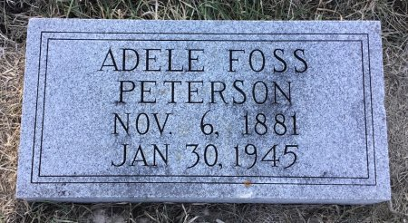 FOSS PETERSON, ADELE - Roberts County, South Dakota | ADELE FOSS PETERSON - South Dakota Gravestone Photos