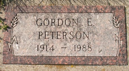 PETERSON, GORDON E. - Roberts County, South Dakota | GORDON E. PETERSON - South Dakota Gravestone Photos