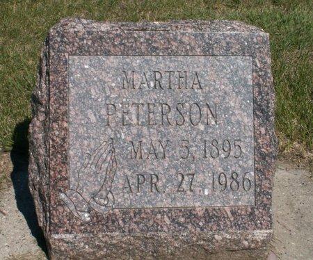 PETERSON, MARTHA - Roberts County, South Dakota | MARTHA PETERSON - South Dakota Gravestone Photos