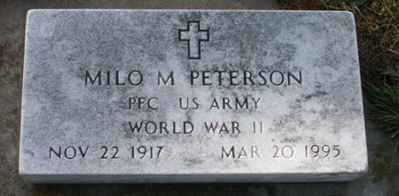 PETERSON, MILO M - Roberts County, South Dakota | MILO M PETERSON - South Dakota Gravestone Photos