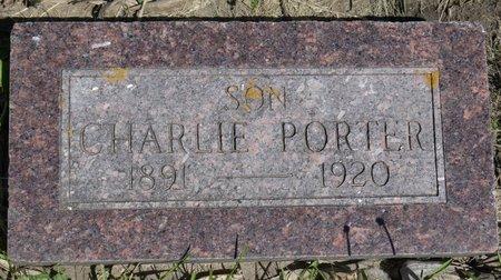 PORTER, CHARLIE - Roberts County, South Dakota   CHARLIE PORTER - South Dakota Gravestone Photos