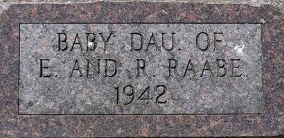 RAABE, BABY - Roberts County, South Dakota | BABY RAABE - South Dakota Gravestone Photos