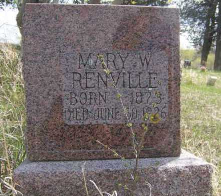 RENVILLE, MARY - Roberts County, South Dakota | MARY RENVILLE - South Dakota Gravestone Photos