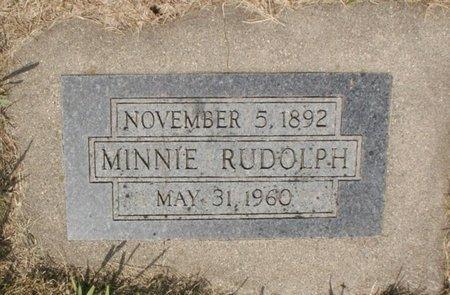 RUDOLPH, MINNIE - Roberts County, South Dakota | MINNIE RUDOLPH - South Dakota Gravestone Photos