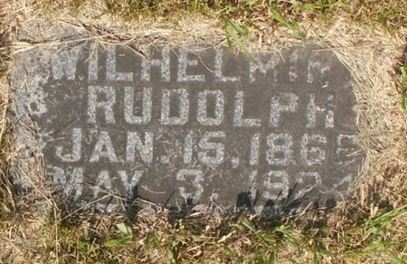 RUDOLPH, WILHELMINA - Roberts County, South Dakota | WILHELMINA RUDOLPH - South Dakota Gravestone Photos
