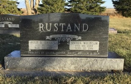 RUSTAND, ANTON WILHELM - Roberts County, South Dakota | ANTON WILHELM RUSTAND - South Dakota Gravestone Photos